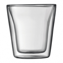 10108-10 2 pcs glass, double wall, small, 0.1 l, 3 oz Transparent bodum