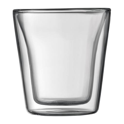 10108-10 2 pcs glass, double wall, small, 0.1 l, 3 oz Transparent bodum