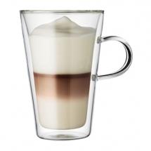 10326-10 2 pcs cup with handle, double wall, large, 0.4 l, 13.5 oz Transparent bodum