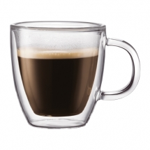 10602-10 2 pcs espresso mug, double wall, 0.15 l, 5 oz Transparent bodum