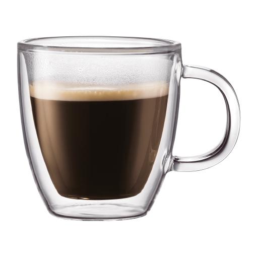 10602-10 2 pcs espresso mug, double wall, 0.15 l, 5 oz Transparent bodum