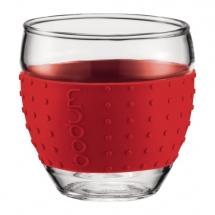 11165-294 2 pcs glass, 0.1 l, 3 oz Red bodum