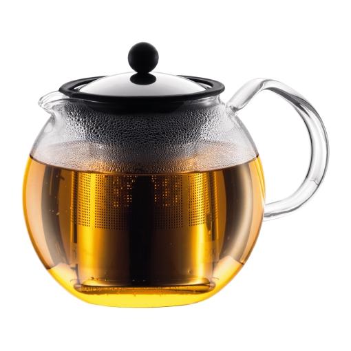 1801-16US4 Tea press with ss filter, 1.0 l, 34 oz Shiny bodum
