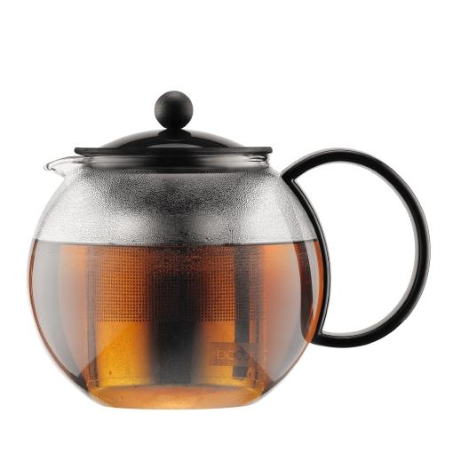 1805-01US Tea press with ss filter, 1.0 l, 34 oz Black bodum