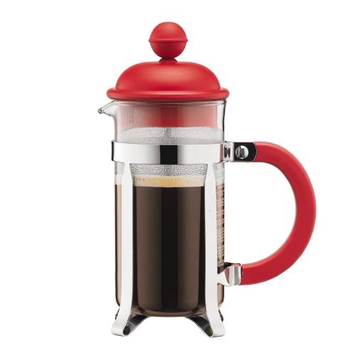 1913-294 Coffee maker, 3 cup, 0.35 l, 12 oz Red bodum