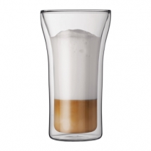 4547-10 2 pcs glass, double wall, large, 0.4 l, 13.5 oz Transparent bodum