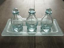 Bottle H10.5cm&tray 12x24cm (clear)