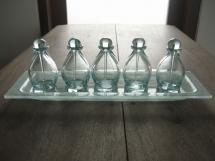Bottle H10.5cm&tray 12x24cm (clear)5pcs