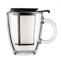 K11239-01 Mug and tea strainer, 0.35 l, 12 oz Black bodum