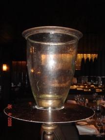 glass candle d top 20cm, d bottom 10cm, h27cm