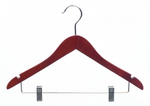 walnut hanger with clip